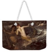 Triton Carrying A Nereid On His Back 1875 Weekender Tote Bag