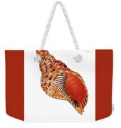 Triton Shell On White Vertical Weekender Tote Bag