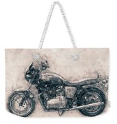 Triumph Bonneville - Standard Motorcycle - 1959 - Motorcycle Poster - Automotive Art Weekender Tote Bag