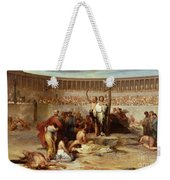 Triumph Of Faith    Christian Martyrs In The Time Of Nero Weekender Tote Bag