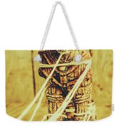 Trojan Horse Wooden Toy Being Pulled By Ropes Weekender Tote Bag