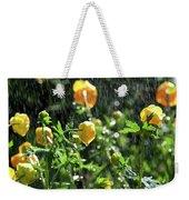 Trollius Europaeus Spring Flowers In The Rain Weekender Tote Bag