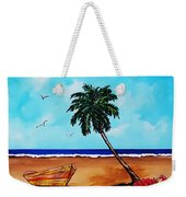 Tropical Beach Scene Weekender Tote Bag