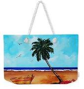 Tropical Beach Scene Weekender Tote Bag