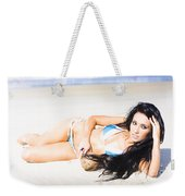 Tropical Beach Woman Weekender Tote Bag