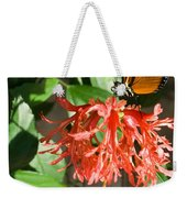 Tropical Butterfly On Flower Weekender Tote Bag