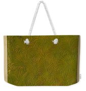 Tropical Palms Canvas Green - 16x20 Hand Painted Weekender Tote Bag