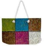 Tropical Palms Canvas - 16x20 Hand Painted Weekender Tote Bag