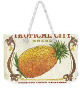 Tropical City Pineapple Weekender Tote Bag by Debbie DeWitt