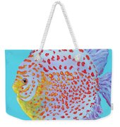 Tropical Discus Fish With Red Spots Weekender Tote Bag
