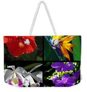 Tropical Flowers Multiples Weekender Tote Bag