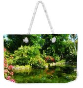 Tropical Garden By Lake Weekender Tote Bag