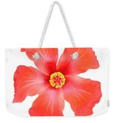 Tropical Hibiscus Flower Vector Weekender Tote Bag