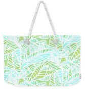 Tropical Lagoon Leaves Weekender Tote Bag