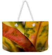 Tropical Leaf Abstract Weekender Tote Bag