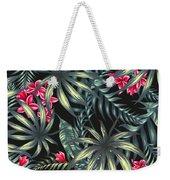 Tropical Leaf Pattern  Weekender Tote Bag