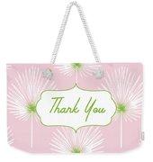 Tropical Leaf Thank You- Art By Linda Woods Weekender Tote Bag