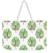 Tropical Leaves On White- Art By Linda Woods Weekender Tote Bag