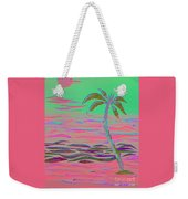Hot Pink Coconut Palm Weekender Tote Bag