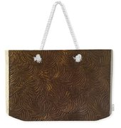 Tropical Palms Canvas Bronze - 16x20 Hand Painted Weekender Tote Bag