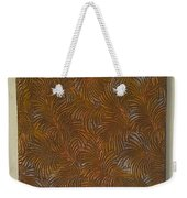 Tropical Palms Canvas Copper Silver Gold - 16x20 Hand Painted Weekender Tote Bag
