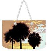 Tropical Palms Work Number Four Weekender Tote Bag