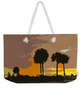 Tropical Palms Work Number Three Weekender Tote Bag