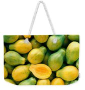 Tropical Papayas Weekender Tote Bag