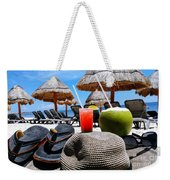 Tropical Paradise Sun, Sand, Beach And Drinks. Weekender Tote Bag