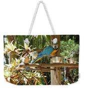 Tropical Parrot Weekender Tote Bag