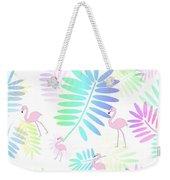 Tropical Pink Flamingos Weekender Tote Bag