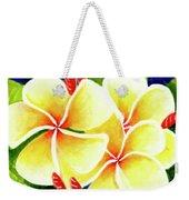 Tropical Plumeria Flowers #226 Weekender Tote Bag