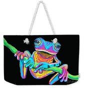 Tropical Rainbow Frog On A Vine Weekender Tote Bag