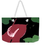Tropical Red Number 12 Weekender Tote Bag