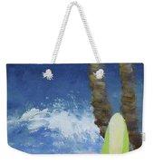Tropical Surfboard Weekender Tote Bag