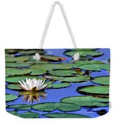 Tropical Water Lily Weekender Tote Bag