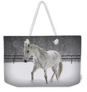 Trot In The Snow Weekender Tote Bag