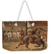 Trotting A Horse Weekender Tote Bag
