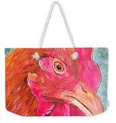 Troubles Portrait Chicken Art Weekender Tote Bag