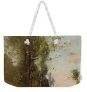Trouillebert, Paul Desire 1829 Paris 1900 Farmer Sitting On The Edge Of The Water Weekender Tote Bag