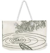 Trout Rising To Dry Fly Weekender Tote Bag by Charles Harden