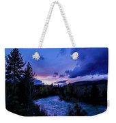 Truckee River Sunset Weekender Tote Bag