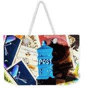 True Blue Postbox Weekender Tote Bag