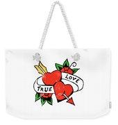 True Love Tattoo Weekender Tote Bag