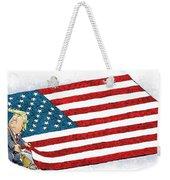 Trump Sweeps Under The Flag Rug Weekender Tote Bag