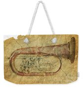 Trumpet In Grunge Style Weekender Tote Bag