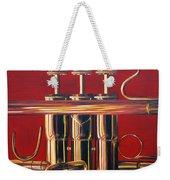 Trumpet In Red Weekender Tote Bag