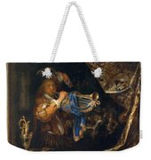 Trumpet Player In Front Of A Banquet 1665 Weekender Tote Bag