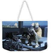 Trumpet Player Playing The Blues Fermin Point Los Angeles In Infrared Weekender Tote Bag
