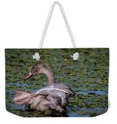 Trumpeter Swan Foot Wave Weekender Tote Bag
